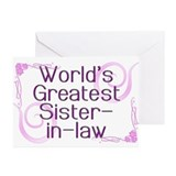 World's Greatest Sister-in-Law Greeting Cards (Pk