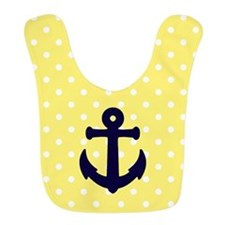Nautical Anchor Polka Dot Bib