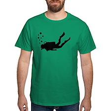 Scuba diver bubbles T-Shirt