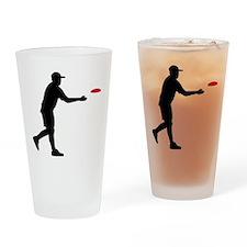 Disc golf player Drinking Glass