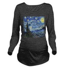 Van Goghs Starry Night Long Sleeve Maternity T-Shi