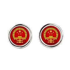 China COA Round Cufflinks