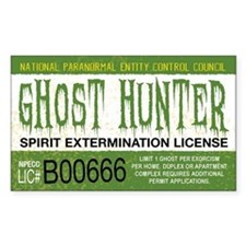 Ghost Hunter License Decal