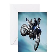 Dirt Bike Jump Greeting Cards
