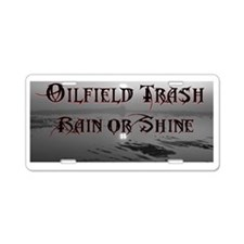 Cute Oil rig Aluminum License Plate