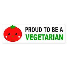 Proud To Be A Vegetarian Bumper Car Sticker