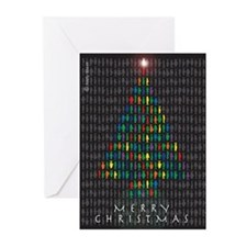 Christmas tree fish Greeting Cards