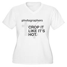 Photographers Crop It Plus Size T-Shirt