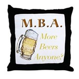 MBA Beers Throw Pillow