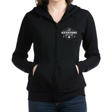 Keystone Old Ivy Black Women's Zip Hoodie