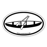 Canoeing and Paddling Oval Decal