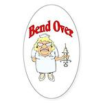 Favorite Nurse Design Oval Sticker