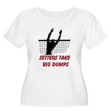 Setters Take Big Dumps Plus Size T-Shirt