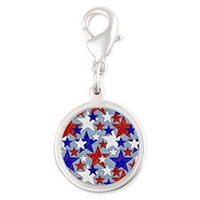 American Star Silver Round Charm
