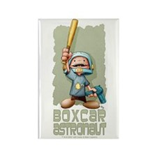 Boxcar Astronaut Rectangle Magnet