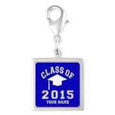 Class Of 2015 Silver Square Charm