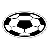 Soccer Ball Oval Car Decal