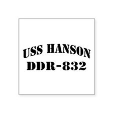 "USS HANSON Square Sticker 3"" x 3"""