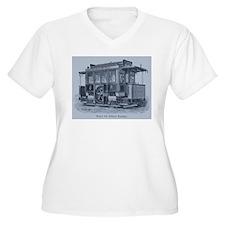 Vintage Trolley Plus Size T-Shirt