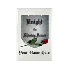Knight In Shining Armor Rose Personalize Magnets