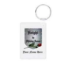 Knight In Shining Armor Rose Personalize Keychains