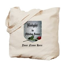 Knight In Shining Armor Rose Personalize Tote Bag