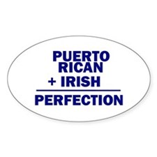 Puerto Rican + Irish Oval Decal