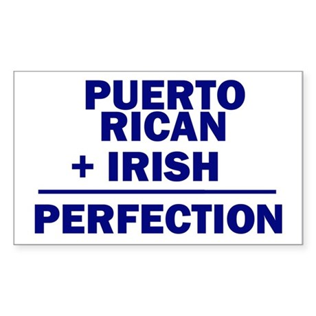 Puerto Rican + Irish Rectangle Sticker