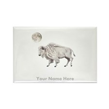 White Buffalo Full Moon Personalize Magnets