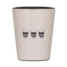Tripple Skulls Shot Glass