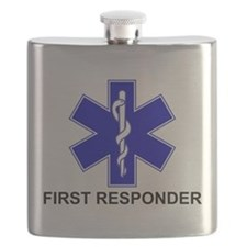 Blue Star of Life - FIRST RESPONDER.png Flask