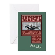 Retropolis Rocket Works Greeting Cards (10 Pack)