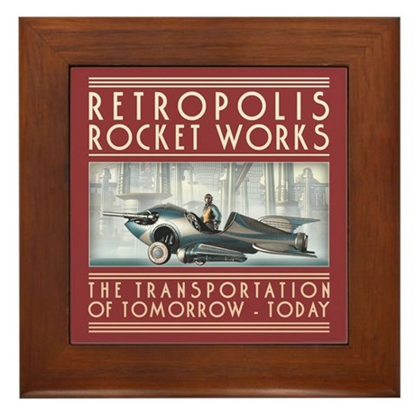 Retropolis Rocket Works Framed Tile