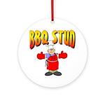 BBQ Stud Ornament (Round)