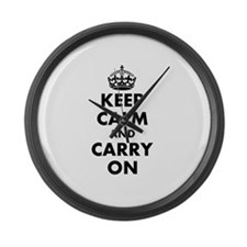Keep calm and carry on   Personalized Large Wall C