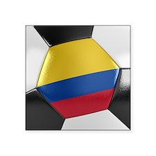 """Colombia Soccer Ball Square Sticker 3"""" x 3"""""""
