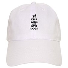 Keep calm and love dogs Baseball Baseball Cap