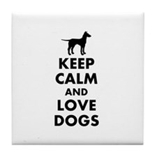 Keep calm and love dogs Tile Coaster