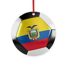 Ecuador Soccer Ball Ornament (Round)