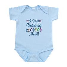 Crocheting Love So Much Infant Bodysuit