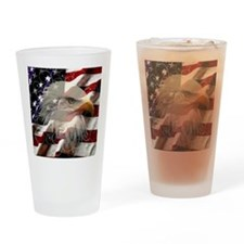 American Eagle Flag Drinking Glass
