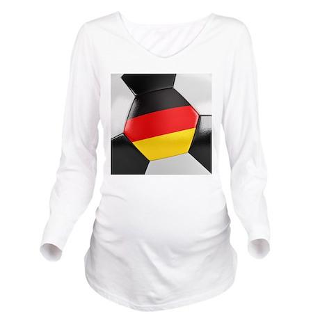 Germany Soccer Ball Long Sleeve Maternity T-Shirt