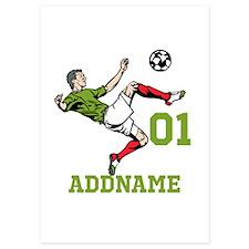 Customizable Soccer Invitations