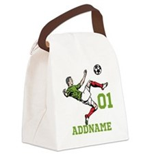 Customizable Soccer Canvas Lunch Bag