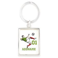Customizable Soccer Portrait Keychain