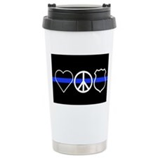 Love Peace Officer Travel Mug