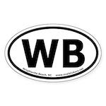Wrightsville Beach, NC Oval Euro-Style Sticker