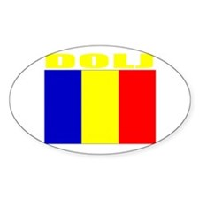 Dolj, Romania Oval Decal