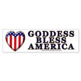 Goddess Bless America Bumper Car Sticker