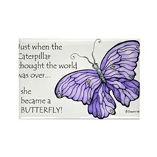 Cute Butterfly Rectangle Magnet (10 pack)
